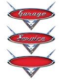 Logotipos do serviço da garagem Fotografia de Stock Royalty Free