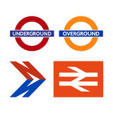 Logotipos do sistema de transporte de Londres Ilustração Stock