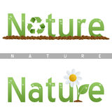 Logotipos do título da natureza Foto de Stock