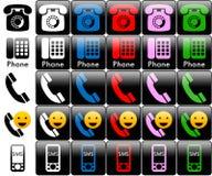 Logotipos do telefone Fotografia de Stock