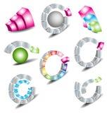 Logotipos do tipo Foto de Stock