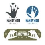 Logotipos do trabalhador manual, emblemas, crachás no estilo do vintage ilustração do vetor