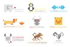 Logotipos do vetor com animais Imagens de Stock