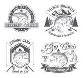 Logotipos do vetor do competiam da pesca Fotos de Stock Royalty Free