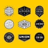 Logotipos do vintage & crachás 2 imagem de stock royalty free