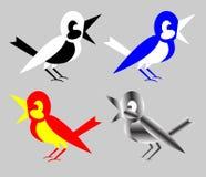Logotipos dos ícones dos pássaros Imagem de Stock