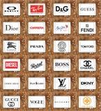 Logotipos dos óculos de sol e dos monóculos Fotografia de Stock Royalty Free