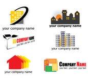 Logotipos dos bens imobiliários Fotografia de Stock