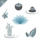 Logotipos dos termas ilustração stock