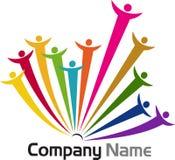 Logotipos dos trabalhos de equipa Fotografia de Stock Royalty Free