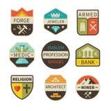 Logotipos e crachás profissionais Imagem de Stock