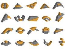 logotipos e elementos do vetor 3d Imagens de Stock Royalty Free