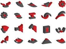 logotipos e elementos do vetor 3d Fotos de Stock Royalty Free