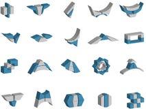 logotipos e elementos do vetor 3d Fotografia de Stock Royalty Free