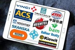 Logotipos e iconos de las empresas de la construcción Imagen de archivo libre de regalías