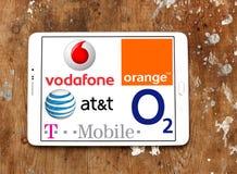 Logotipos e iconos del operador móvil Imagenes de archivo