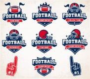 Logotipos e insígnias do futebol do vetor Fotos de Stock