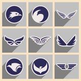 Logotipos elegantes Eagles Foto de archivo