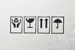 Logotipos em uma placa vazia foto de stock