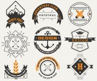 Logotipos fijados/insignias del vintage Foto de archivo libre de regalías