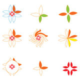 Logotipos florais ilustração do vetor