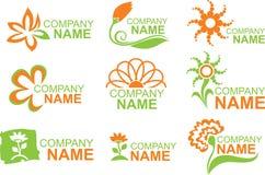 Logotipos florais Fotografia de Stock