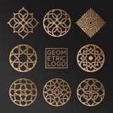 Logotipos geométricos Imágenes de archivo libres de regalías