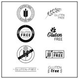 logotipos Gluten-libres del vector Stock de ilustración