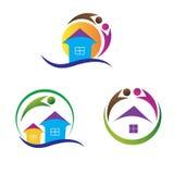 Logotipos home Imagens de Stock Royalty Free