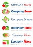 Logotipos a ir com sua empresa  Imagem de Stock