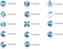 Logotipos, Logotypes ilustração stock