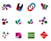 Logotipos modernos Imagens de Stock