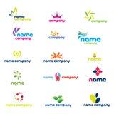 Logotipos modernos da companhia Foto de Stock Royalty Free