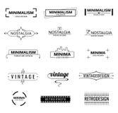 Logotipos modernos mínimos del vector ilustración del vector