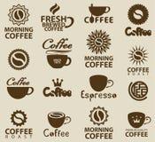Logotipos no café Foto de Stock