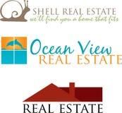 Logotipos originais dos bens imobiliários Foto de Stock Royalty Free