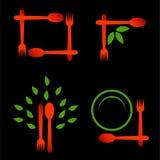 Logotipos para a culinária orgânica Imagens de Stock