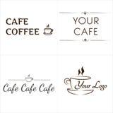 Logotipos para el café Imagen de archivo libre de regalías