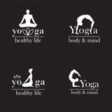 Logotipos para el estudio de la yoga Fotografía de archivo