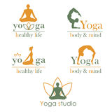 Logotipos para el estudio de la yoga Imagen de archivo