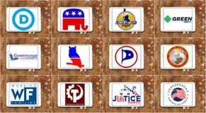Logotipos parlamentarios e iconos del partido político de los E.E.U.U.