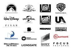 Logotipos principais do vetor dos estúdios cinematográficos Fotografia de Stock Royalty Free