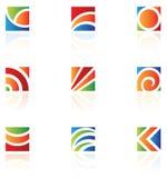 Logotipos quadrados Foto de Stock