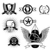 Logotipos que encaixotam o clube Imagem de Stock