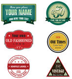 Logotipos retros Foto de Stock Royalty Free