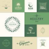 Logotipos saudáveis dos produtos Fotografia de Stock Royalty Free