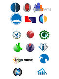 Logotipos simples Foto de Stock Royalty Free