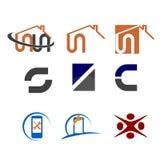 Logotipos simples Imagem de Stock Royalty Free