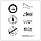 Logotipos sin lactosa del vector libre illustration