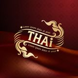 Logotipos tailandeses de las insignias o de los logotipos del arte, identidad Imagen de archivo